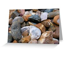 Whistable shingled beach Greeting Card