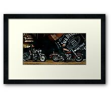 JD and Harley - Made for Each Other Framed Print