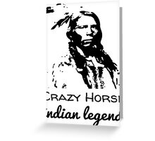 Crazy Horse Indian Legend Greeting Card