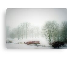 Snow Bridge Canvas Print