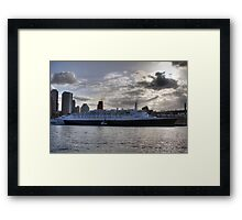 QE II - Leaving Sydney Harbour Framed Print