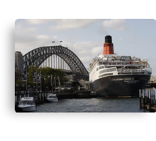 QE II - Leaving Sydney Harbour II Canvas Print