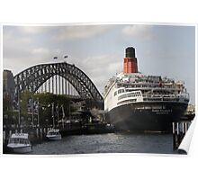 QE II - Leaving Sydney Harbour II Poster