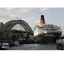 QE II - Leaving Sydney Harbour II Photographic Print