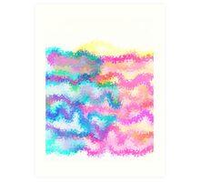 PASTEL FLAMES Art Print