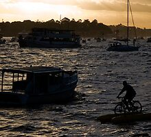Bicycling In Sydney Harbour by MiImages
