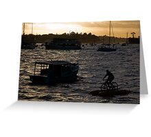 Bicycling In Sydney Harbour Greeting Card
