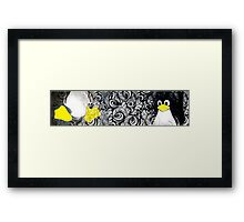 Penguin Linux Tux art graphic Framed Print