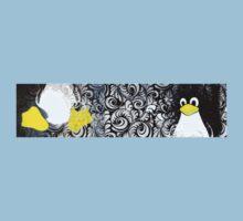 Penguin Linux Tux art graphic One Piece - Short Sleeve