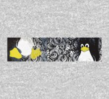 Penguin Linux Tux art graphic One Piece - Short Sleeve