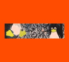 Penguin Linux Tux art graphic Kids Tee