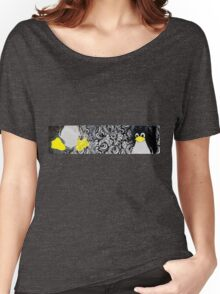 Penguin Linux Tux art graphic Women's Relaxed Fit T-Shirt