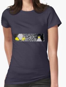 Penguin Linux Tux art graphic Womens Fitted T-Shirt