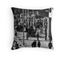 Busy Street Throw Pillow