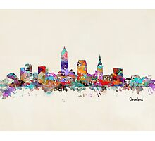 Cleveland Ohio skyline Photographic Print