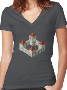 Medieval castle Women's Fitted V-Neck T-Shirt