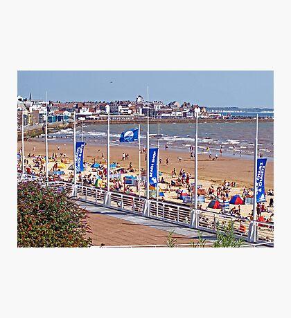 Bridlington beach in summer Photographic Print