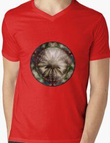 Hybrid Sphere Fan Flower B Mens V-Neck T-Shirt