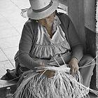 Gualaceo Straw Weaver II by Al Bourassa