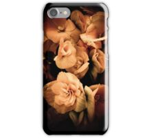 Peach Begonia Flowers - Flora Photography iPhone Case/Skin