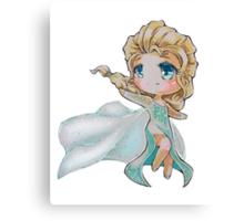 Chibi Snow Queen Elsa Canvas Print