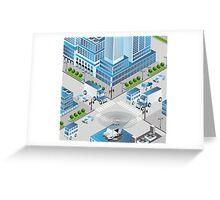 Urban crossroads Greeting Card