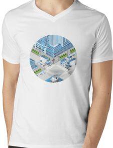 Urban crossroads Mens V-Neck T-Shirt