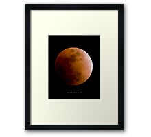 Lunar Eclipse Feb 20 2008 Framed Print