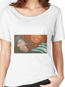 woodland moth - lino cut print Women's Relaxed Fit T-Shirt