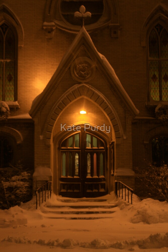 Welcoming on a Snowy Night by Kate Purdy