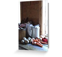Vegetables For Soup Greeting Card
