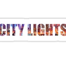 City lights Sticker