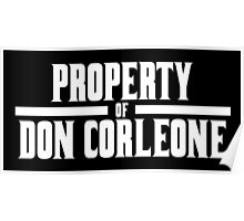 Property of Don Corleone Poster