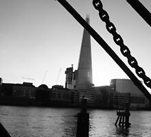 The Shard seen from the River by joelmeadows1