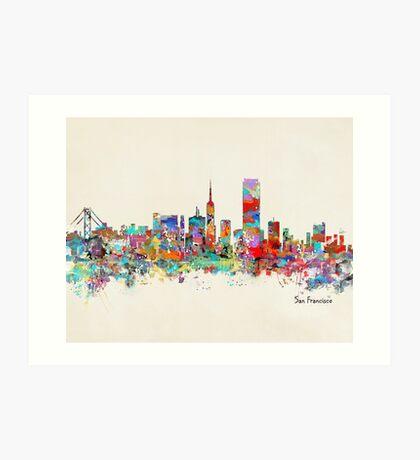 San Francisco California sklyine Art Print
