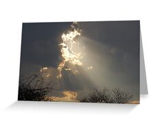 SUNLIGHT RAYS Greeting Card