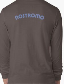 Nostromo back lettering from Alien (clean version) Long Sleeve T-Shirt