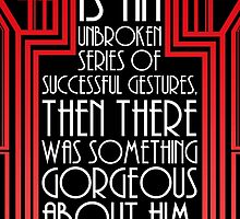 "Gatsby Quote Christmas Card – ""Personality"" by DaDobinator"