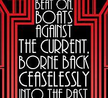 "Gatsby Quote Christmas Card – ""Last Line"" by DaDobinator"