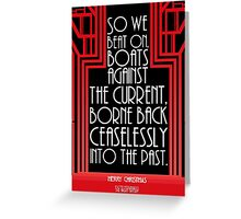 "Gatsby Quote Christmas Card – ""Last Line"" Greeting Card"