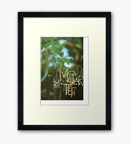Muscular Teeth Framed Print