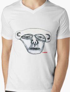 Monkey Head Mens V-Neck T-Shirt
