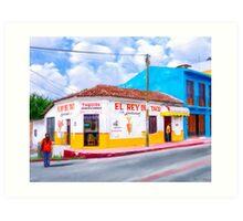 A Little Taquiza On A Corner Of Chiapas Art Print