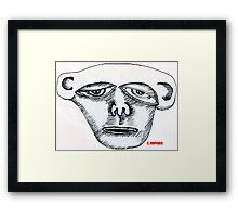 Monkey Head Framed Print