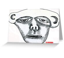 Monkey Head Greeting Card