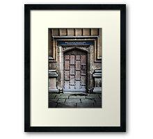 Bodleian Library School of Medicine Door Framed Print