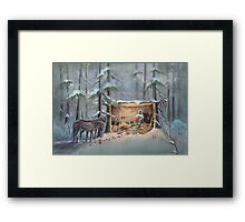 MOUNTAIN MAN by SHARON SHARPE Framed Print