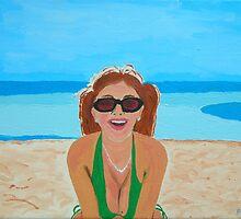 Self portrait - Bahia Honda by Joni Philbin