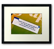 fortune. Framed Print