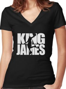 Lebron James - King James Women's Fitted V-Neck T-Shirt